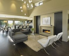 Beautiful modern design fitting on a small lot. Custom homes West Vancouver by the My House Design Build team. My Home Design, Home Interior Design, House Design, Interior Colors, Interior Ideas, Living Room Modern, Home Living Room, Living Room Decor, Living Area
