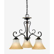 View the Quoizel DH5103 Renaissance 3 Light Down Lighting Chandelier from the Duchess Collection at LightingDirect.com.