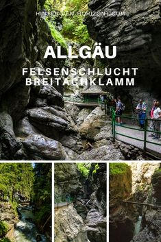 Breitachklamm - The deepest rocky canyon in Central Europe - Travel diary, Europe Destinations, Backpacking Europe, Travel Europe, Voyage Europe, Central Europe, Camping And Hiking, Blog Voyage, Nightlife Travel, Travel Aesthetic