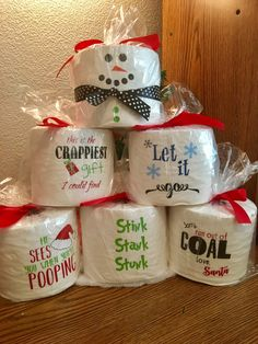 Christmas Gag Gift Toilet Paper Funny Sayings by GigglesWhims