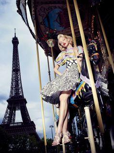 Gold Leopard: Remake Couture / L'Officiel Paris October 2011