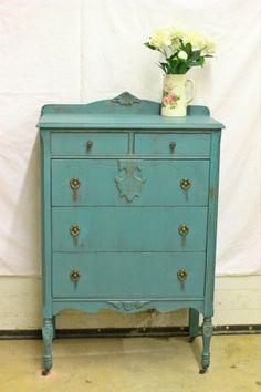 Painted Vintage Highboy Dresser Listing Highboy and Etsy