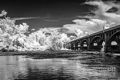 Bridge-infrared-bw by Charles Hite Framed Prints, Canvas Prints, Art Prints, West Columbia, Vacation Ideas, Bridge, Photograph, Wall Art, Photos