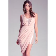 Sequin dress with ruched accents and a simply gorgeous overlay. Shimmer through the night.