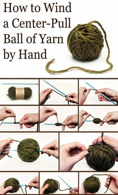 Tutorial center-pull ball of yarn