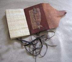 The Nag Hammadi codices - a collection of 13 ancient codices w/ 50+ texts, written in Coptic. Discovered in Upper Egypt in 1945, buried in a jar near the Egyptian village of Nag Hammadi. According to Szirmai these were the earliest surviving binding structures, dated from the 3rd/4th century AD. This structure was made using J.A. Szirmai's instructions in The Archaeology of Medieval Bookbinding, and the model from Preservation Dept., University of Iowa Libraries.