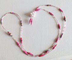 collier sautoir de perles camaieu de roses : Collier par floralice
