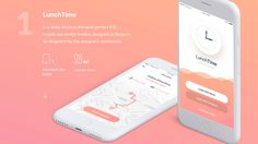 LunchTime App Free UI Kit Sketch