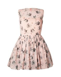 RED VALENTINO Swan Print Dress
