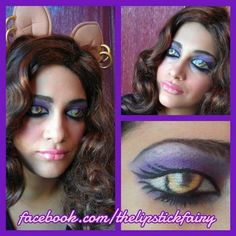Monster High makeup Look! Monster High Makeup, Monster High Party, Wolf Makeup, Fx Makeup, Maquillage Halloween, Halloween Makeup, Ghost And Ghouls, Theatrical Makeup, Party Rock