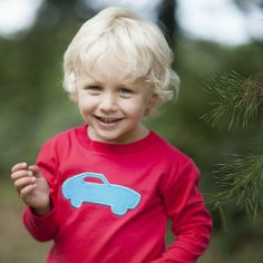 9/18/2013  Boy's Red Long Sleeve Car T-Shirt
