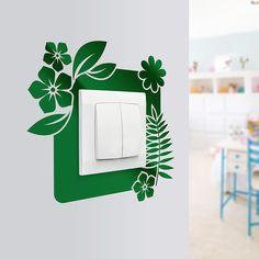 Naklejki na ściany pod kontakt z motywem florystycznym. Dzięki możliwości dobrania dowolnego koloru, sprawdzi się przy każdej aranżacji ścian.