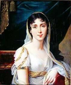 Another version of the 1807 portrait of Désirée Clary by Robert Lefèvre. She was later known as Queen Desideria,  queen consort of Charles XIV John of Sweden and Norway.