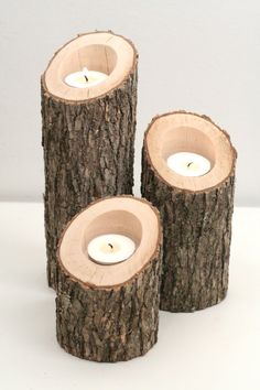 Tree Branch Candle Holders Set of 3 Heights by WorleysLighting