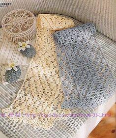 Ecru or Pastel Blue free crochet graph pattern