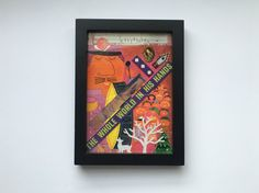 Mixed Media Collage Art Framed Home Decor Whole by 4StoriesUp