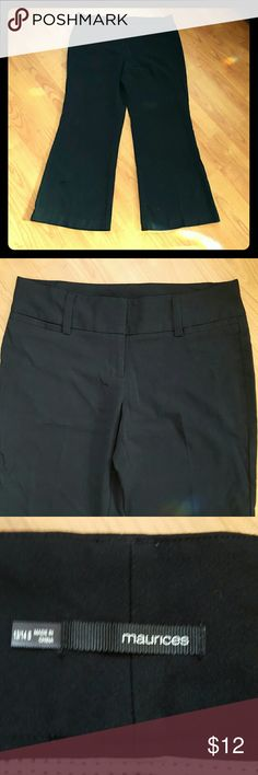 Maurices sz 13/14 short black dress pants petite Very nice pre-owned condition Maurices Pants Boot Cut & Flare