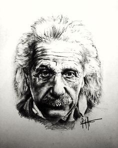 """Einstein - Matt Howe - 30 x 35cm - £125  """"My work is focused on life's unnecessary repetitive cycle, the continual mistakes made throughout history that are still made today, the cycle of the celebrity, the effects a life time can have on ones looks and the mundane everyday mass event.  I believe a lot can be taken from simply stopping in your steps, and taking a moment out of the fast pace, busy urban environments we live in.""""  The beautiful remains so in ugly surroundings.(Malcolm De…"""