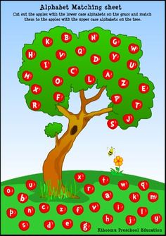 Letters on the Bus song and Apple Tree Alphabet Matching from Kiboomu
