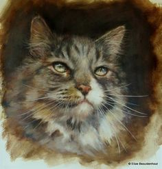 Demonstration. Demonstration I did at one of my Animal Portrait Painting workshops. Oil on Canvas