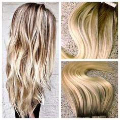 5 Star European Remy Double Drawn Highlighted Balayage Tape-in Seamless Weft 20 Hair Extensions Balayage Extensions, Beauty Hair Extensions, Tape In Hair Extensions, Creative Hairstyles, Cool Hairstyles, Star Hair, Damaged Hair Repair, Queen Hair, Blonde Ombre
