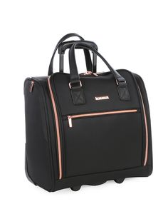 The discerning traveller with a strong sense of classic timeless style will be captivated by the Cellini Allure Collection. The Underseat Trolley with 2 wheels f Underseat Carry On, Carry On Luggage, Rose Gold Color, Timeless Fashion, Tech, Humor, Business, Lady, Travel