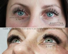 Difference between classic full set of individual eyelash extensions (200 lashes per set) and volume 6D set of eyelash extensions (1200 lashes per set)