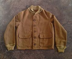 Rare Vintage Wool A1 Flight Jacket WWI Pre WWII 1920s 1930s in Very Nice Condition, C=44""