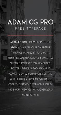 ADAM.CG PRO - Free Typeface on Behance