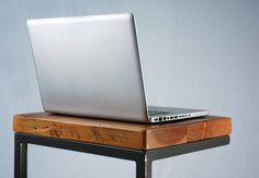 Industrial Reclaimed Timber Laptop Table by JonathanJanuary, $235.00