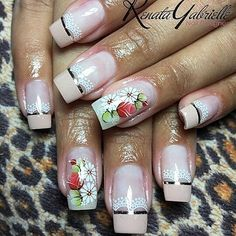 CINDY ADESIVOS ARTESANAIS (@cintia.nathara_adesivos) | Instagram photos and videos Nail Time, White Nail Designs, Hand Care, Flower Nails, White Nails, Summer Nails, Nail Colors, My Nails, Finger