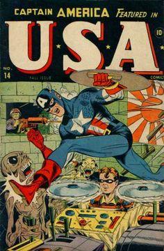 USA Comics 14 Captain America golden age Atlas Marvel comics