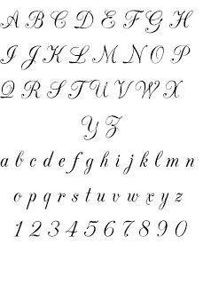 Ecriture Stylée Alphabet calligraphie, chancelière fine, alphabets, lettres, stages et cours
