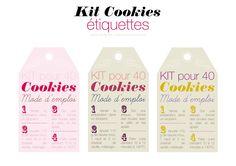 Etiquettes kit cookies à réaliser soi même