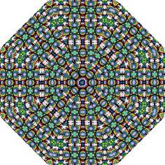 Ecuadorian abstract 2299 Folding Umbrella Design. #products $34.99  #greenblue