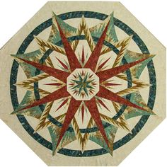 Mariner's Compass ~ Quiltworx.com, made by CI Mary Demers Wakeley