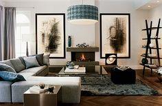 grey / blue / brown living room