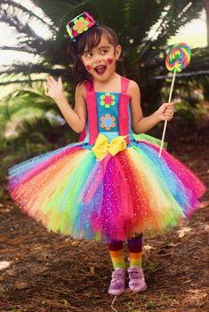 Clown Costume, Clown Dress, Clown tutu dress costume, Circus Clown costume, Halloween costume for girls Fall Tutu Dress, Halloween Tutu Dress, Clown Halloween Costumes, Tutu Costumes, Tutu Dresses, Halloween Crafts, Girl Clown Costume, Clown Dress, Birthday Tutu