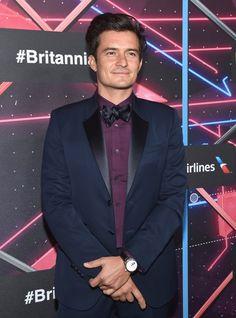 Pin for Later: Die Hollywood-Stars feierten bei den Britannia Awards Orlando Bloom