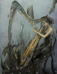 """""""Reflections of Moments in Music,"""" oil on canvas by Bob Cao"""