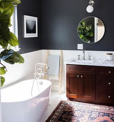 Marvelous Guest Bathroom Makeover Ideas on A Budget – Bathroom Interior Exterior, Home Interior, Bathroom Interior, Modern Bathroom, Master Bathroom, Navy Bathroom, Bathroom Closet, Bathroom Towels, Bathroom Wall