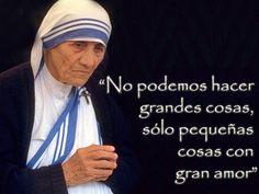 Frase de la Madre Teresa de Calcuta