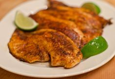 Blackened Tilapia. Great with salmon too!