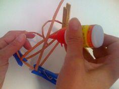 Môj postup na srdiečko 13 Newspaper Crafts, Origami, Paper Straws, Paper Mache, Hearts, Crafts, Origami Paper, Origami Art
