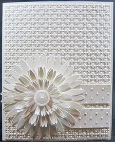 handmade card from Life with a Wiener Dog: LNS Challenge 131 All White Daisies . Stampin' Up! Wedding Card Templates, Wedding Cards, Cute Cards, Diy Cards, Square Lattice, Embossed Cards, Card Tags, Flower Cards, Creative Cards