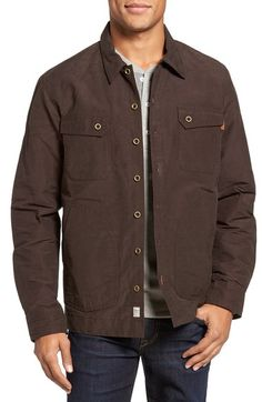TIMBERLAND Waxed Canvas Shirt Jacket. #timberland #cloth #