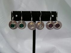 Birthstone Charm Earrings- You choose the month/ color