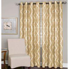Elrene Medalia Grommet Top Curtain Panel 95 Inches