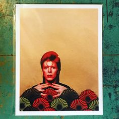 ⚡️Happy Birthday⚡️, you pretty thing. #collage by the beautiful @wwanderingheartt ❤️. Now available @heytigerlouisville. #wemissyou     . . #heytiger #shopheytiger #davidbowie #rip #rockandroll #glam #davidrobertjones  #handmade #handmadeshop #buyhandmade #supportlocalart #icon #legend #fashion #vintage  #love #starman #ziggystardust #aladdinsane #rebelrebel #themanwhosoldtheworld
