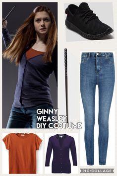 Ginny Weasley Harry Potter DIY Costume Gina Weasley, Harry Potter Ginny Weasley, Harry Potter Images, Harry Potter Style, Harry Potter Outfits, Harry Potter Diy, Hermione Granger Outfits, Harry Potter Cosplay, Casual Cosplay